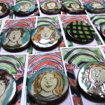 brooches on cards