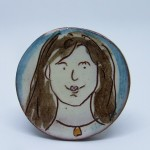 brooch girl with necklace